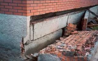 Как укрепить фундамент кирпичного дома своими руками