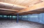 Утепление фундамента изнутри в деревянном доме