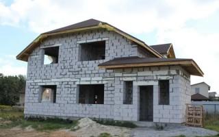 Строительство фундамента для двухэтажных домов из пеноблоков
