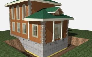 Особенности выбора фундамента под кирпичный дом