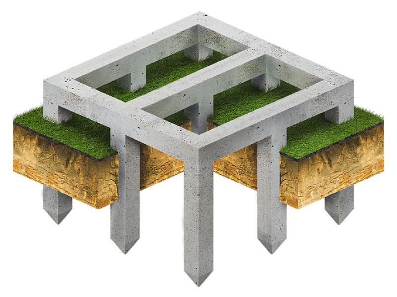 фундамент на забивных сваях