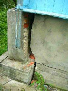 замена фундамента под деревянным домом