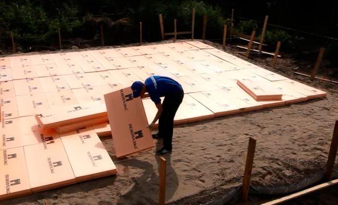 утепление фундаментной плиты