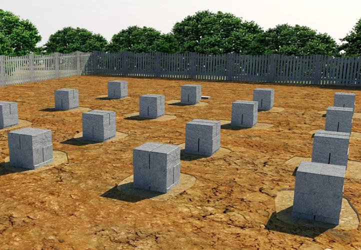 Столбчатый фундамент из блоков своими руками.