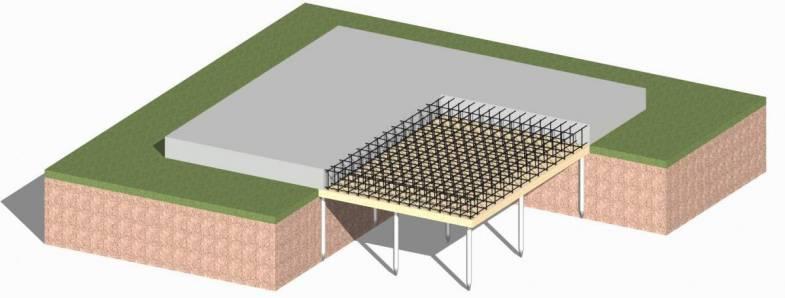 свайно плитный фундамент