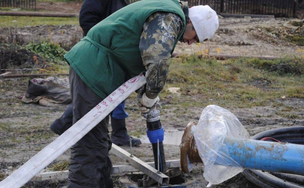 очистка скважины от ила и песка
